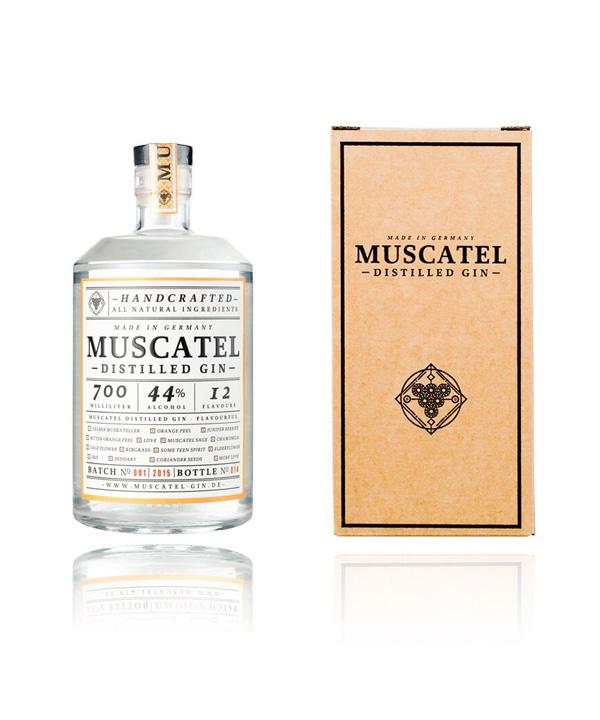 Muscael Gin mit Karton