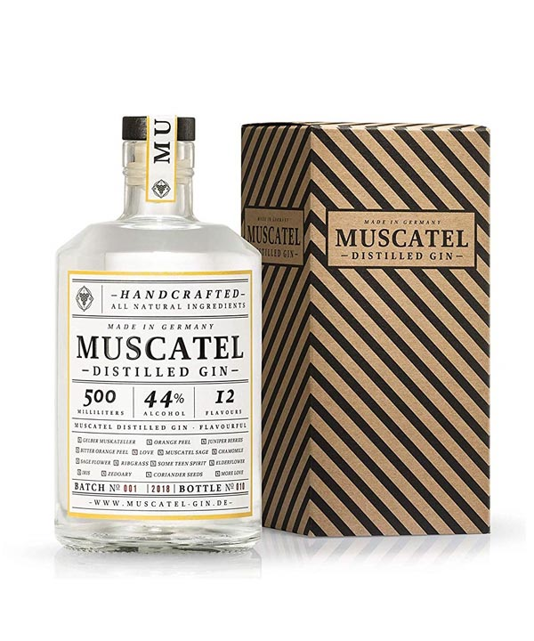 Muscatel-Gin 0,5L Flasche mit Geschenkbox