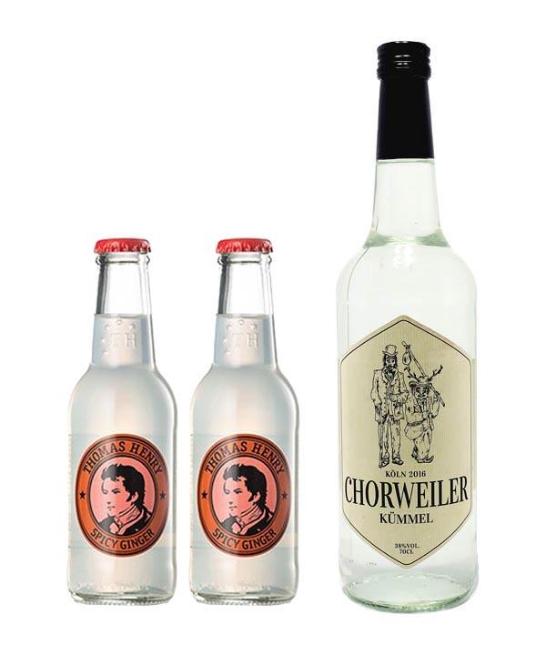Cologne Mule Set Chorweiler Kümmel mit Thomas Henry Ginger Beer