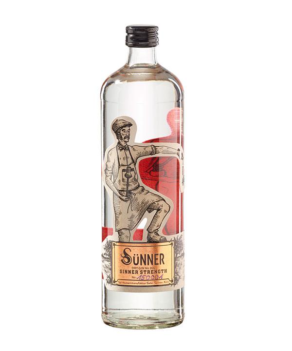 Suenner Gin Sünner Gin Sinner Strength 0,7L Flasche