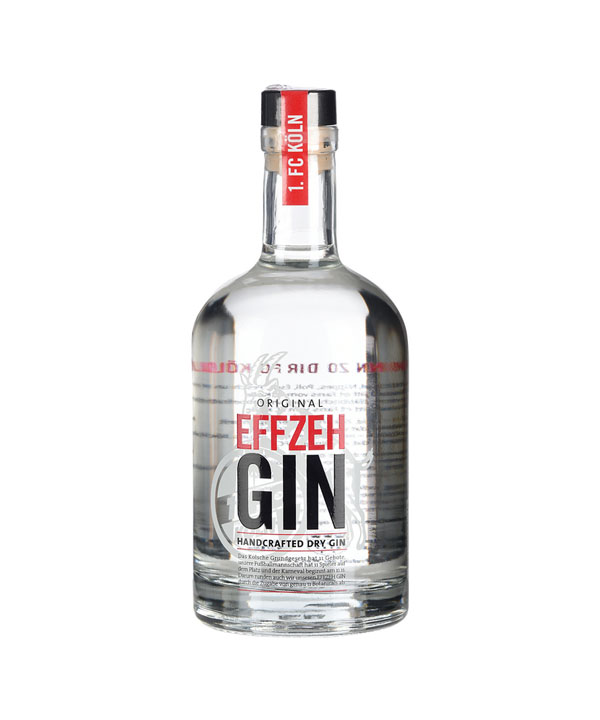 Effzeh Gin Kölner Dry Gin 1. FC Köln Fußball 500ml Flasche