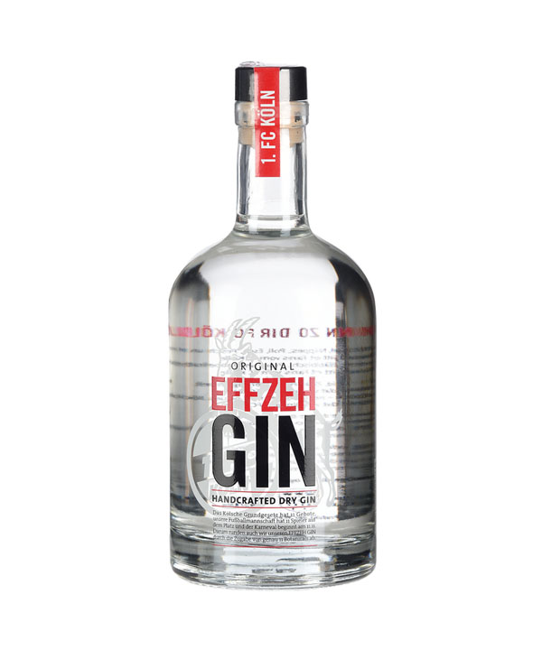 Effzeh Gin Kölner Dry Gin 1. FC Köln Fußball Fan 500ml Flasche