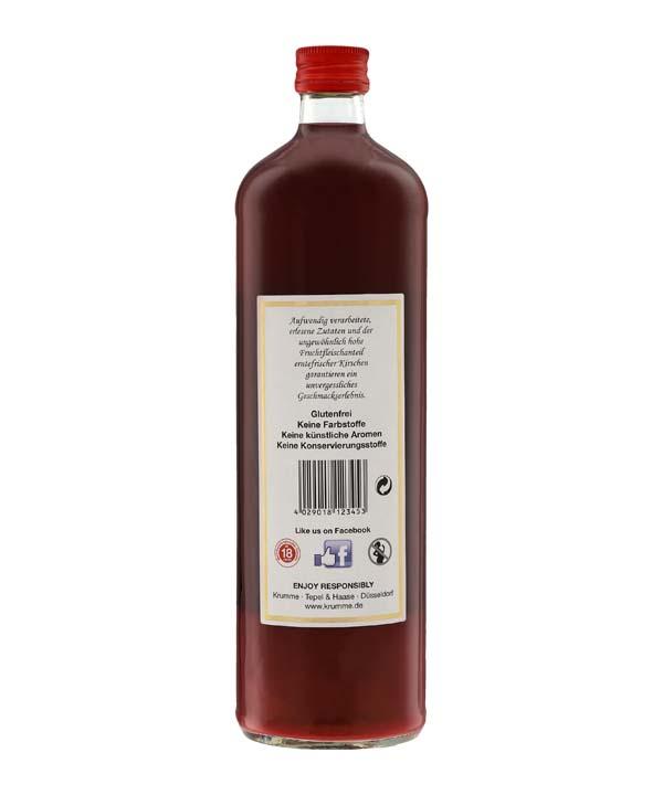 Krumme Sauerkirsch Likör 0,7L Flasche Rheinspirits Düsseldorf