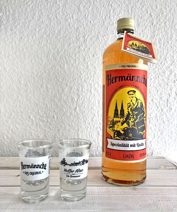 Hoffer Alter Hermännche Geschenkset mit 2 Gläsern