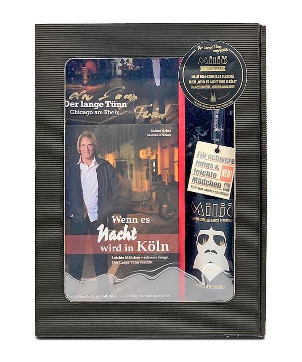 Miljö Geschenkbox mit Buch Wenn es Nacht wird in Köln der Lange Tünn