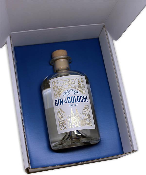 Gin de Cologne Köln Gin Geschenk Box Rheinspirits